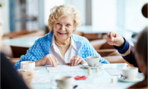 The older woman decides to stay in independent senior living.