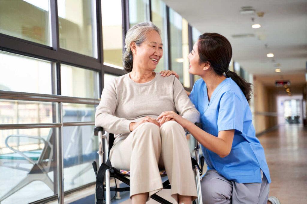 Senior care services inside a nursing facility.