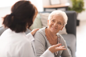The skilled nurse explains what the patient must need to consider.