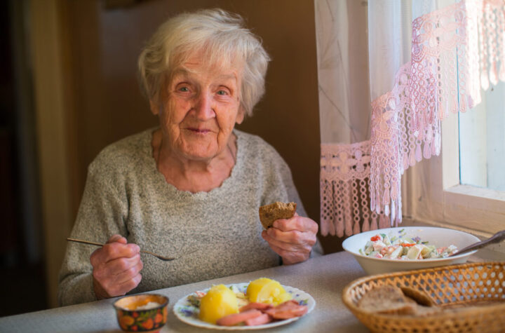 grandma eating